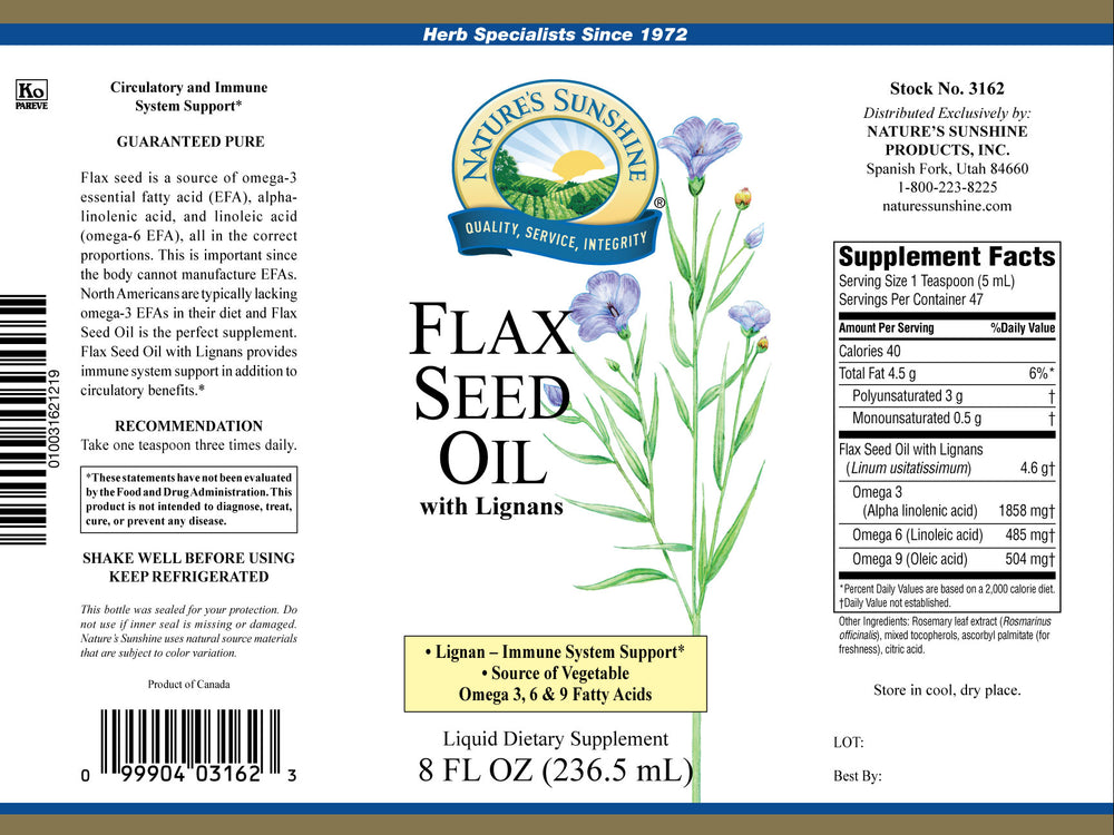 Load image into Gallery viewer, Flax seed oil is an excellent source of fatty acids, which support heart health and are vital to many body functions and processes.