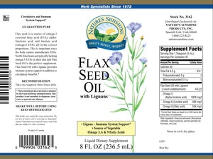 Flax seed oil is an excellent source of fatty acids, which support heart health and are vital to many body functions and processes.