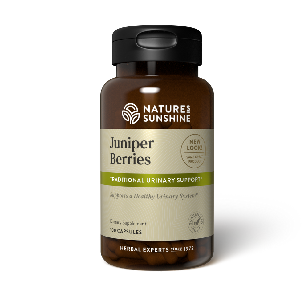 Juniper berries offer nutritional support to the urinary system by helping the body maintain proper fluid balance and normal levels of uric acid.