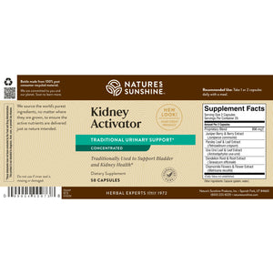 This highly concentrated formulation of Kidney Activator supports bladder and kidney health. It encourages proper water balance in body tissues and may help prevent stone formation.