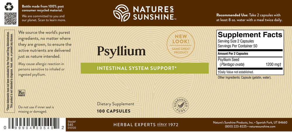 Looking to add soluble fiber to your diet? Support your intestinal system health with Psyllium Seeds.