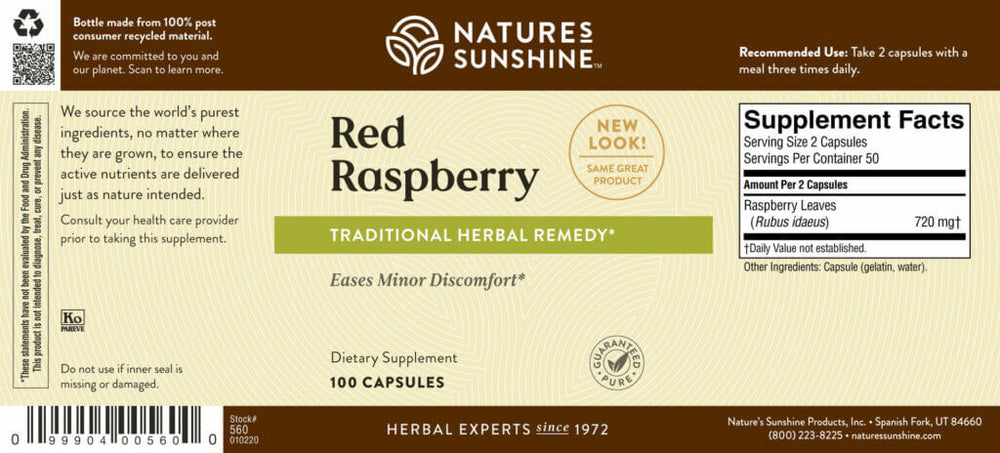 Red Raspberry leaf benefits the female glandular and reproductive systems. It also promotes digestive balance.