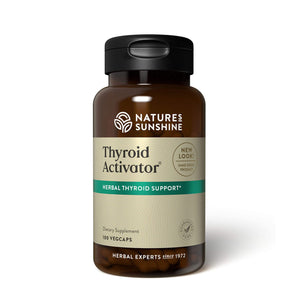 Nourish the thyroid gland and support thyroid hormones with Thyroid Activator herbal formula.