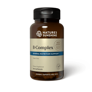 Nature's Sunshine B vitamins nourish the nervous system and help with specific enzyme reactions. All B vitamins should be taken together for best results.