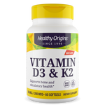 Vitamin D3 & Vitamin K2 (180 softgels)