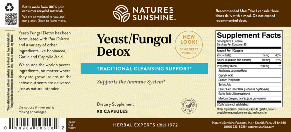 Maintain a healthy balance of yeast and microflora levels in your body and boost the immune system.