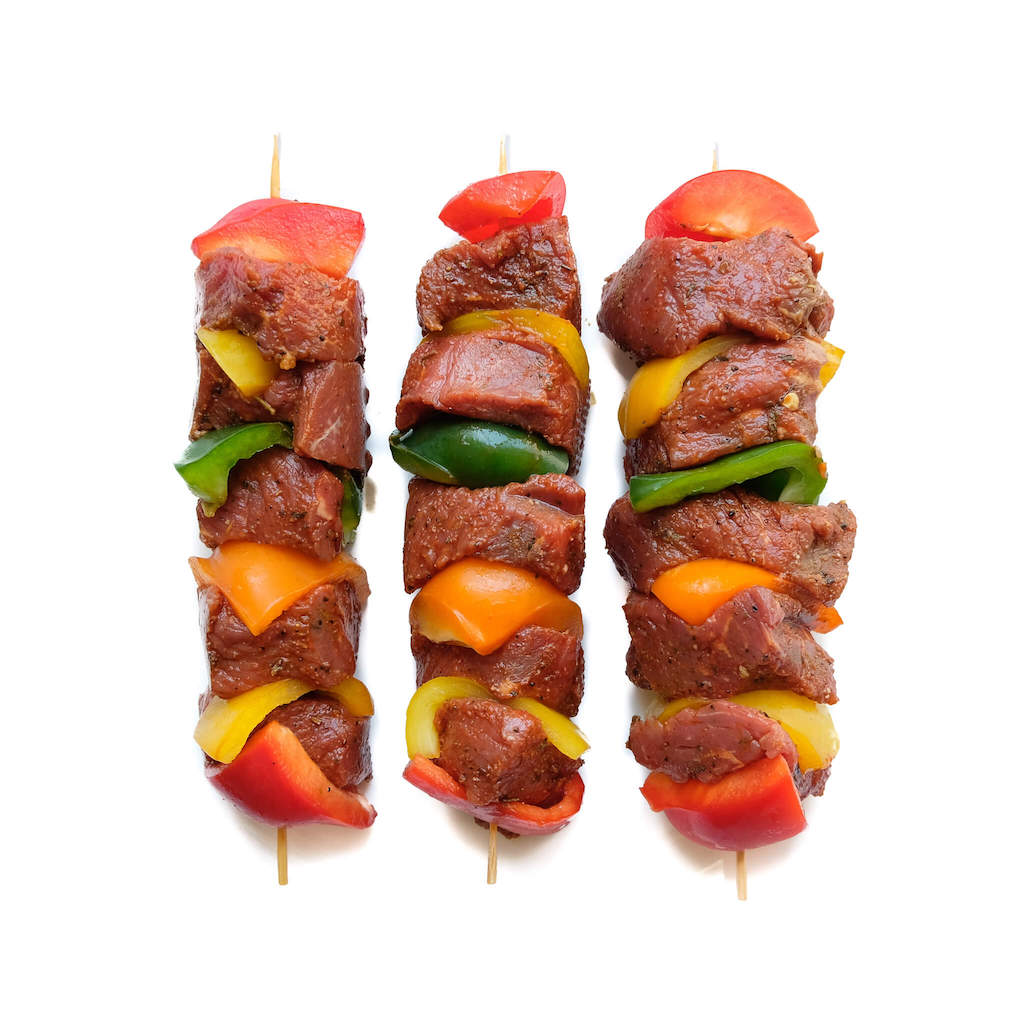 Marinated Beef Kebabs 4 pcs