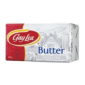 Butter Gay Lea Unsalted 454GR