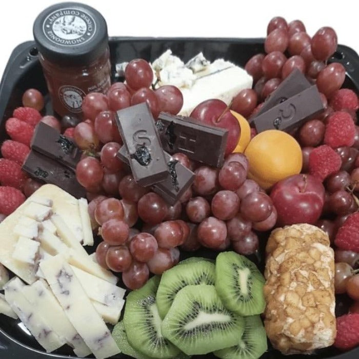 Cheese, Fruit & Artisanal Dark Chocolate Platter