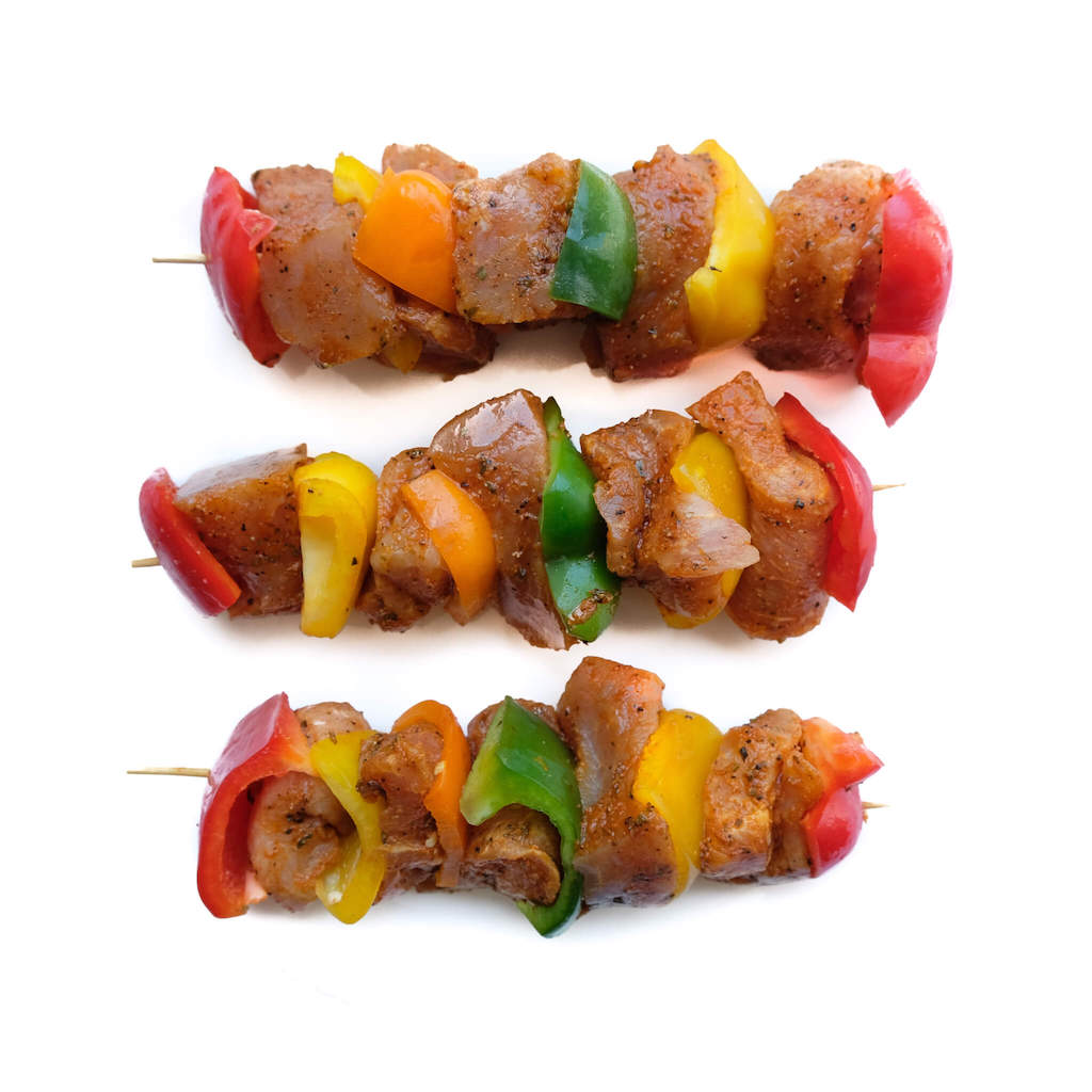 Marinated Pork Kebabs 4 pcs