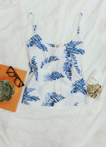 Hand Leaf print camisole
