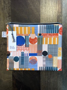 Multicolour 'Play' print pouch