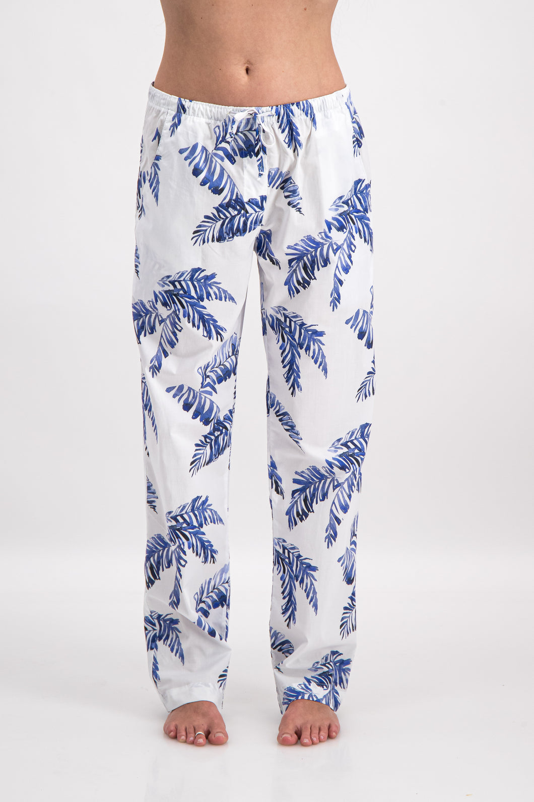 Hand Leaf print lounge pants