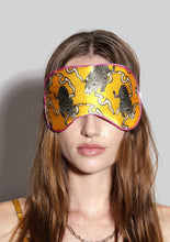 Load image into Gallery viewer, Pouncing leopards silk eye mask