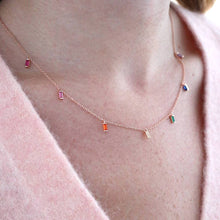 Load image into Gallery viewer, Rainbow jewelled necklace
