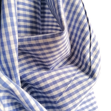 Load image into Gallery viewer, Organic Cotton Gingham Cornflower
