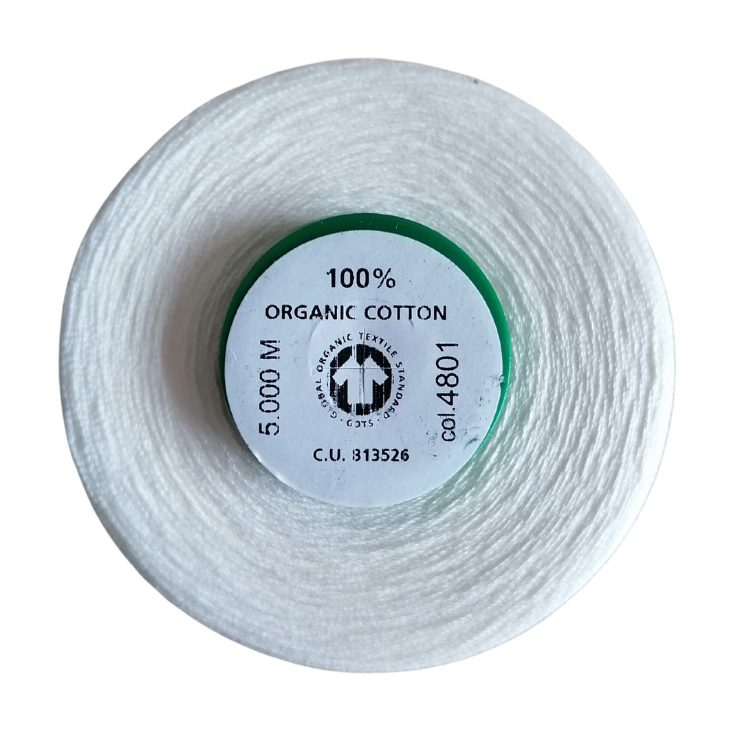 Organic Cotton Overlocking Thread Cream