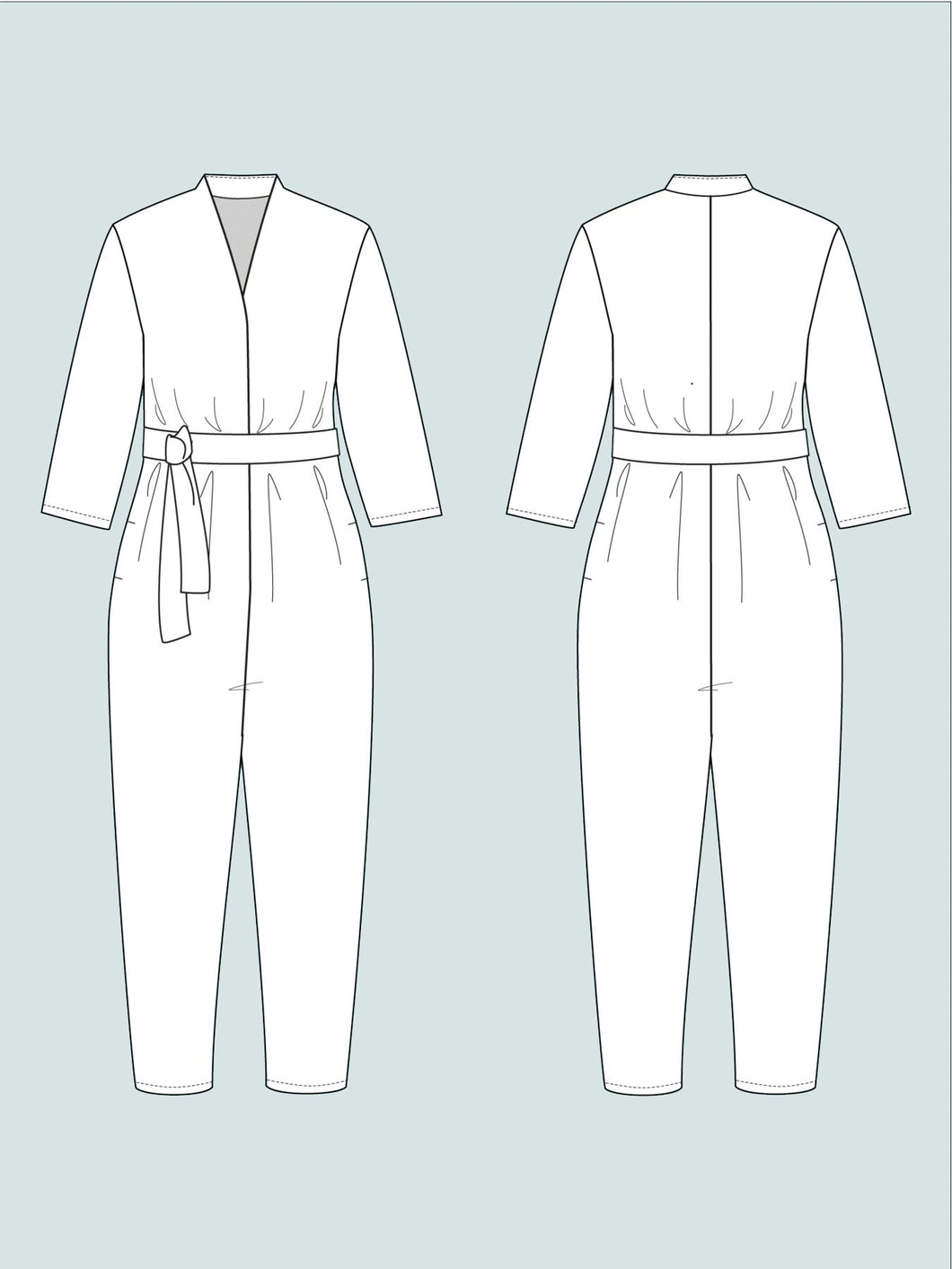 V-Neck Jumpsuit