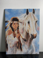 Tapestry pictures Girl with horse