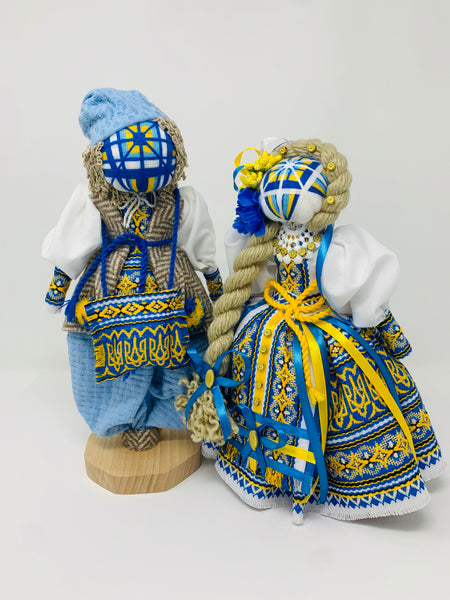 "Motanka dolls couple ""Ivan & Halyna"""