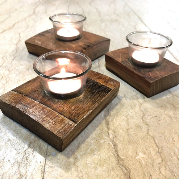 3 Pack x 1-Candle Luxury Stave Centerpiece - Free Shipping