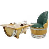 Wine Barrel Chair - Free Shipping