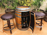 Wine Barrel Multi-Use Bar - Free Shipping