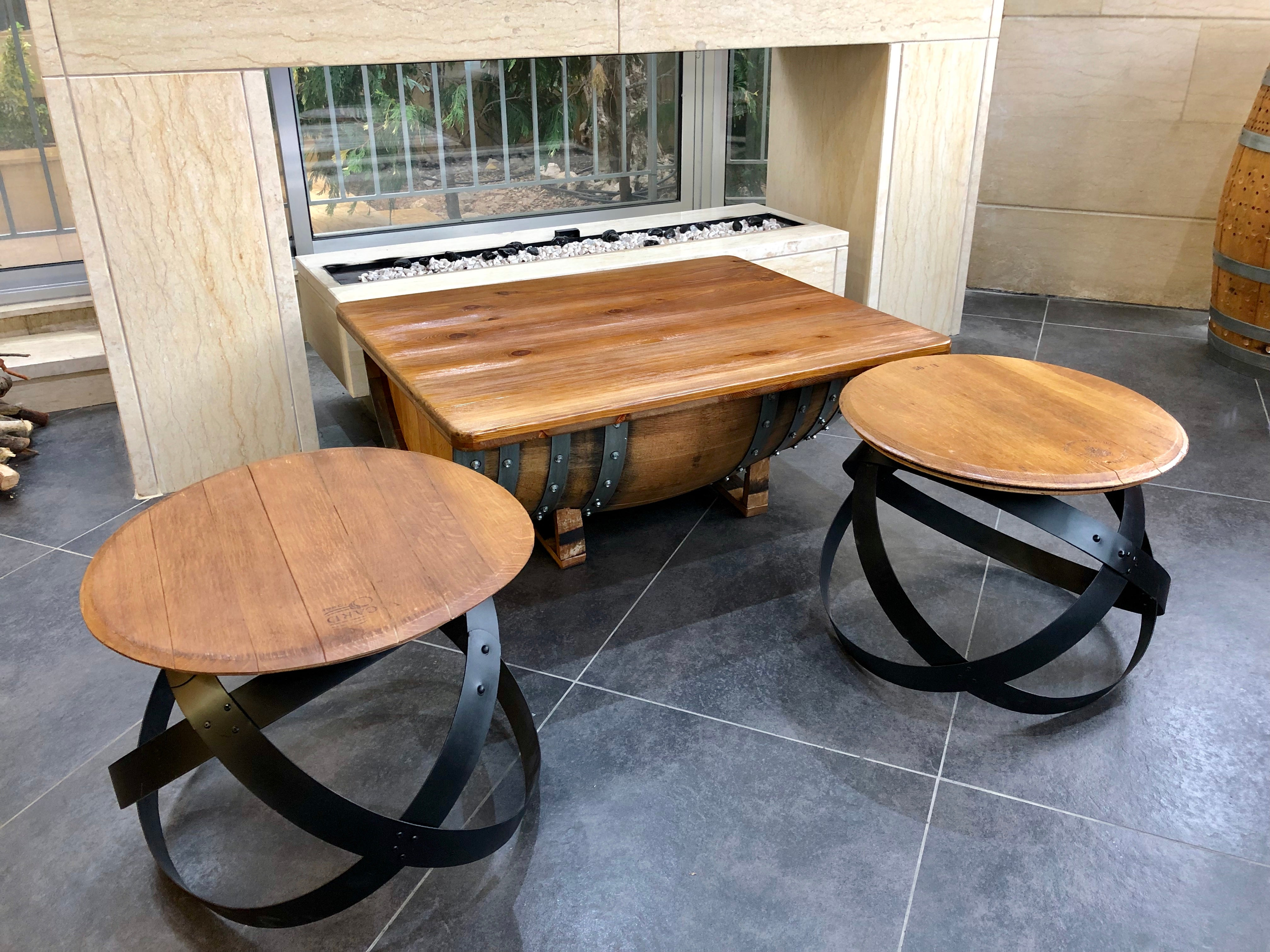Wine Barrel Coffee Table - Free Shipping