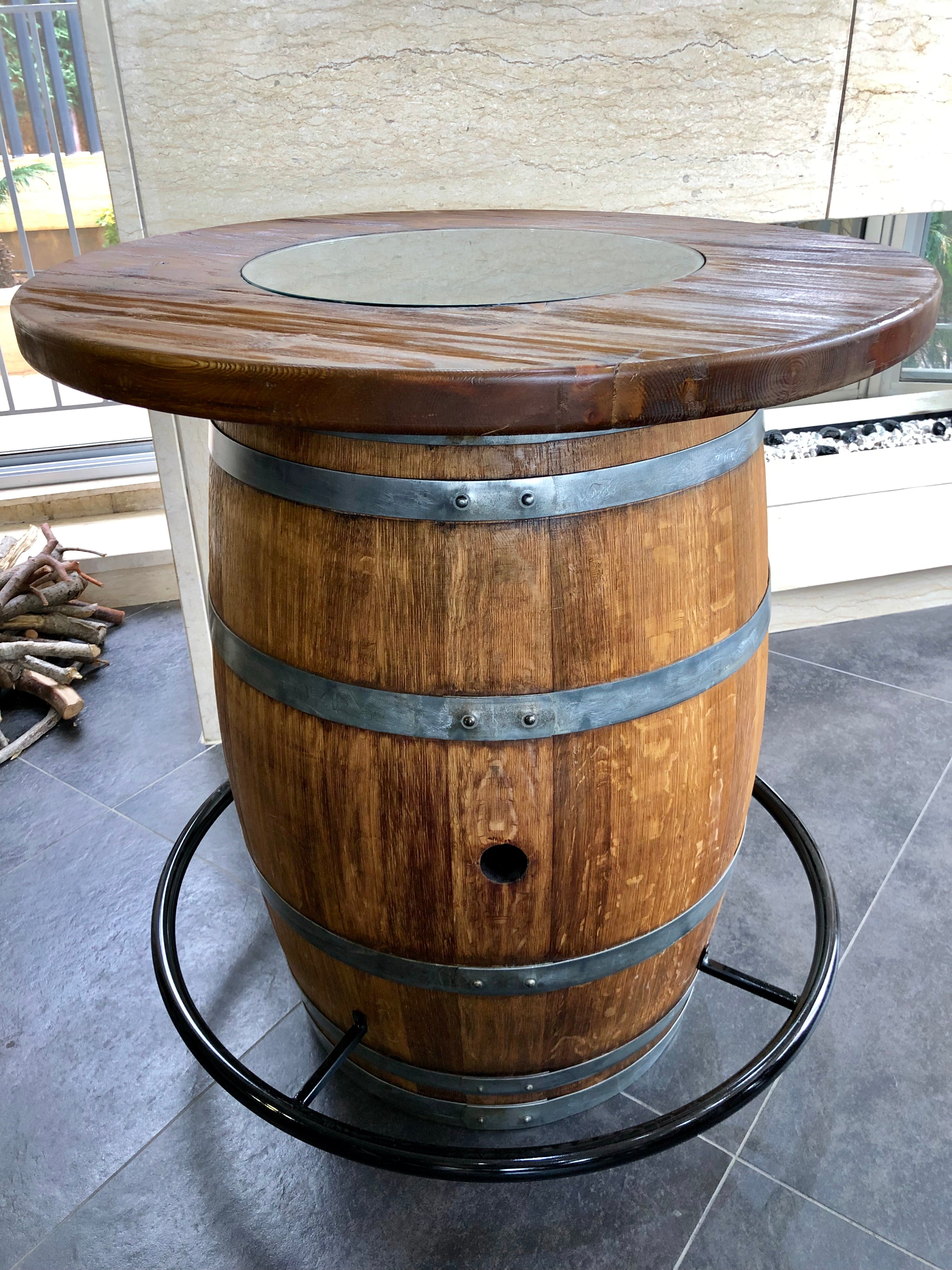 Vintage Handmade Oak Barrel Furniture - Wine Barrel Chair, Bar, Wine Barrel Coffee Table, Whiskey Barrel Furniture, Man Cave Ideas, Poker Table, Wine Rack