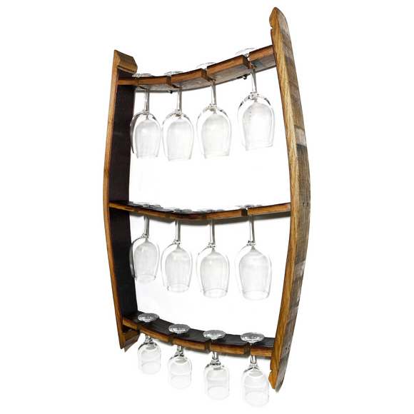 Wine Barrel Trio Glass Display - Free Shipping