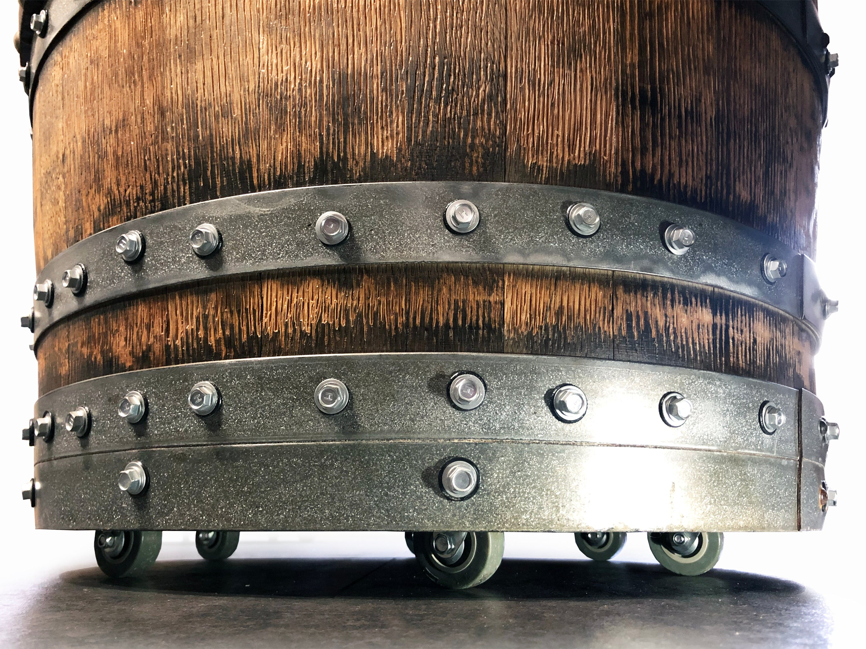 Wine Barrel Top Shelf Bar - Free Shipping
