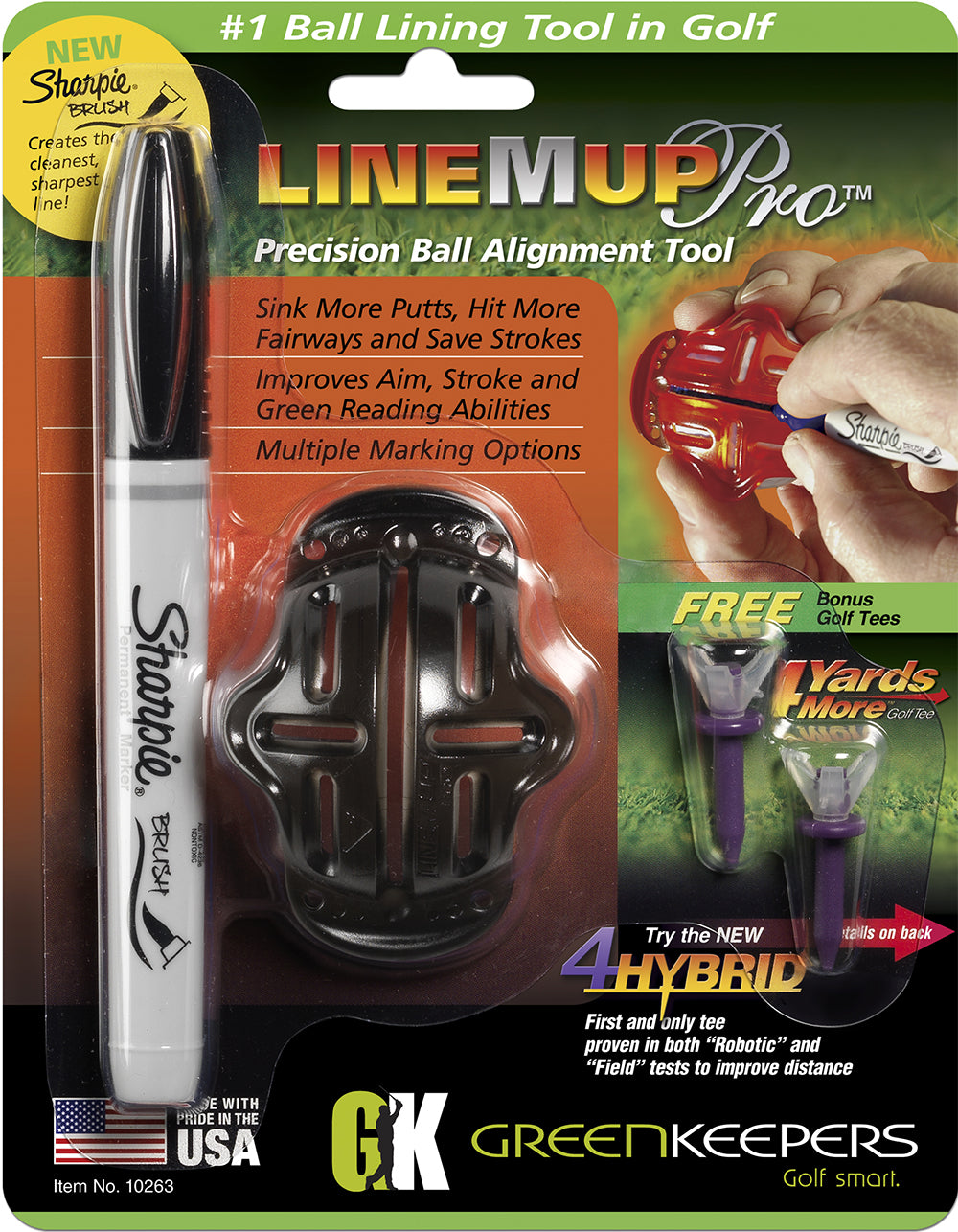 Line M Up with Sharpie Brush Marker  (Black)