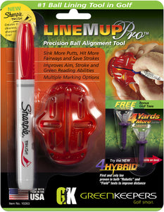 Line M Up with Sharpie Brush Marker (Red)