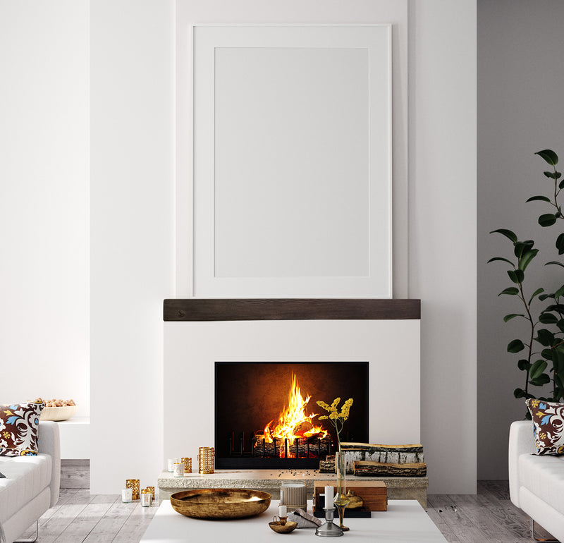 Fireplace Mantel Shelf in traditional living room