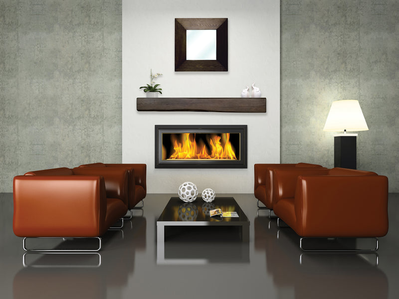 Fireplace Mantel Beam in modern living room