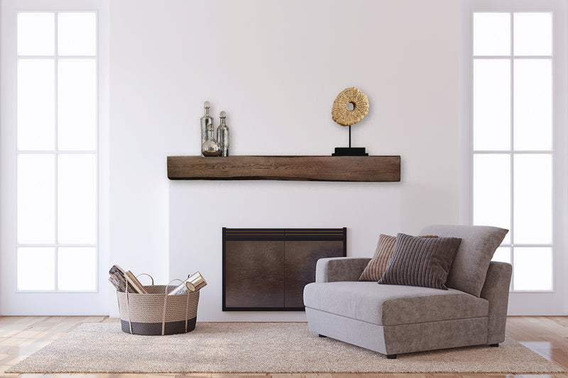 Fireplace Mantel Beam in traditional living room