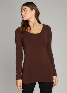 CCT Bamboo scoop neck long sleeve