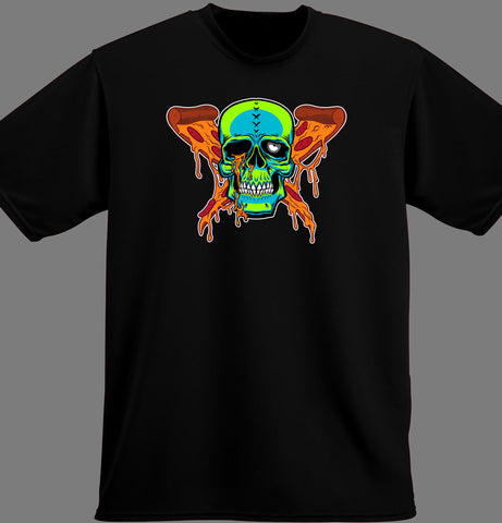 black pizza zombie shirt