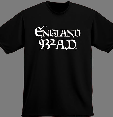 England 932 AD Black T Shirt