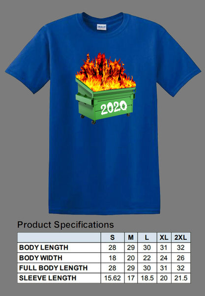 blue dumpster fire 2020 shirt full color