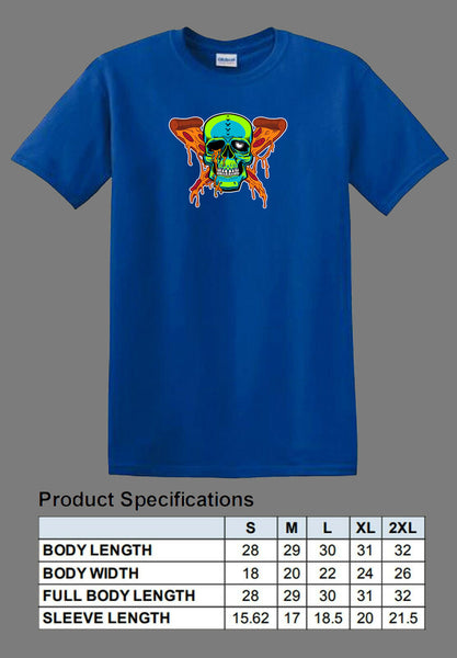 blue pizza zombie shirt