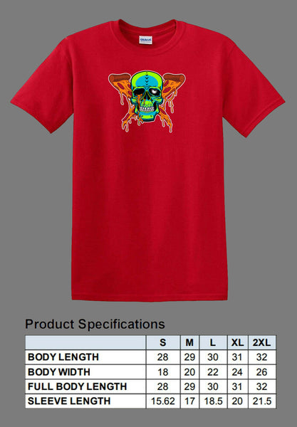 red pizza zombie shirt