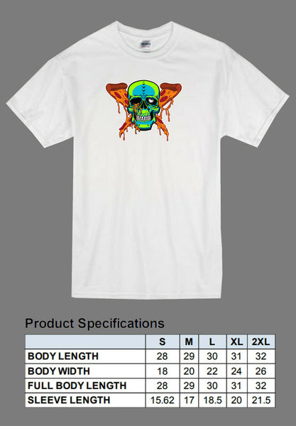 white pizza zombie shirt