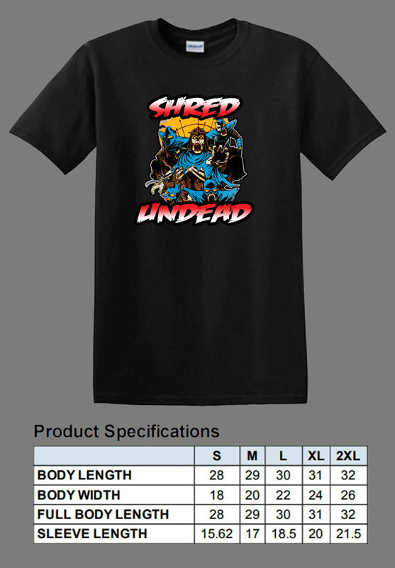 black undead Shredder shirt TMNT