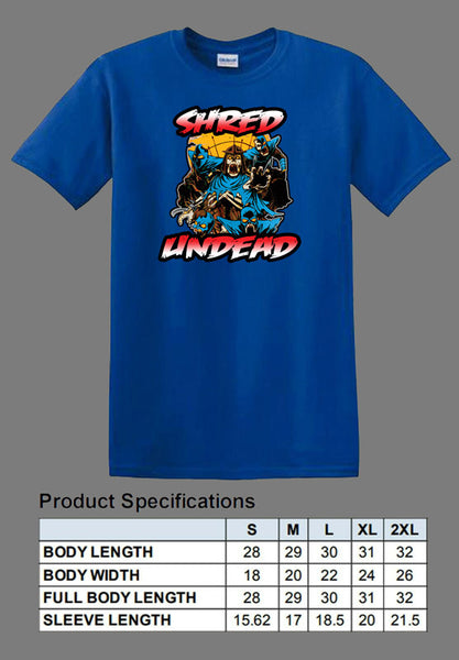 blue undead Shredder shirt TMNT