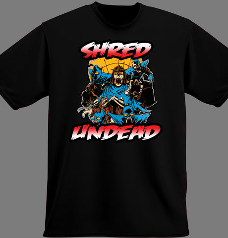 Shop Shred Shirts Online - Black Zombie Print T-Shirts