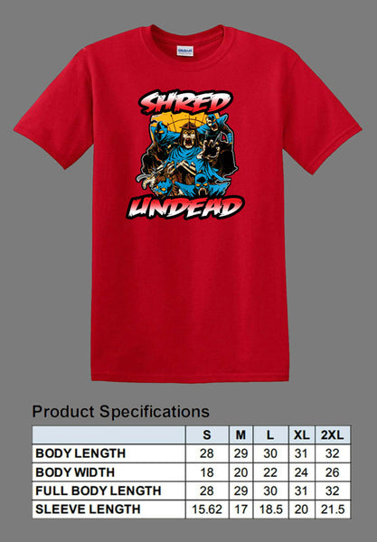 red undead Shredder shirt TMNT
