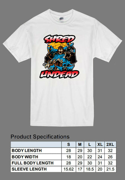 white undead Shredder shirt TMNT