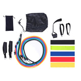 Set Latex Resistance Bands Gym Door Anchor Ankle Straps With Bag Kit Set Yoga Exercise Fitness Band Rubber Loop Tube Bands
