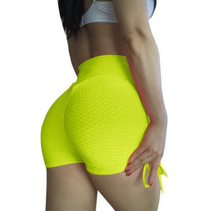 gym set Women Fitness yoga Sets Jacquard Straps Yoga Shorts Leggings Sexy Drawstring Short Sports Top workout clothes for women
